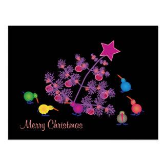 Kiwi: Frohe Weihnachten Postkarten