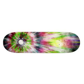 Kiwi-gefärbte KrawatteWatercolor 21,6 Cm Skateboard Deck