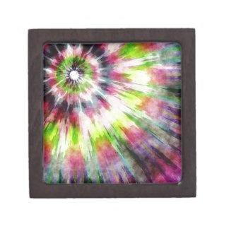 Kiwi-gefärbte KrawatteWatercolor Kiste