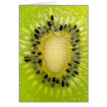 Kiwi-grüne Frucht w sät geschnittenen Karten