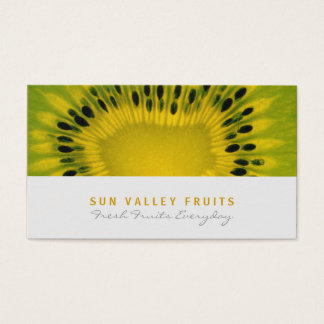 Kiwi-Nahaufnahme-Frucht-Großhandel-Visitenkarte Visitenkarte