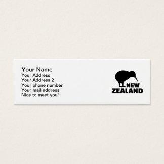 Kiwi Neuseeland Mini Visitenkarte