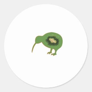 Kiwi nz Kiwifruit Runder Aufkleber