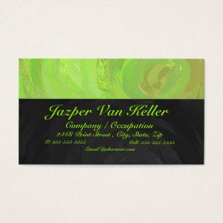 Kiwi-Schlag-grünes und schwarzes Monogramm Visitenkarte