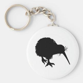 Kiwi-Silhouette Standard Runder Schlüsselanhänger