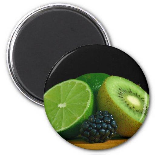 Kiwi und Limones Kühlschrankmagnet