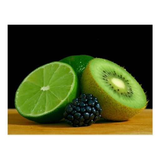 Kiwi und Limones Postkarte