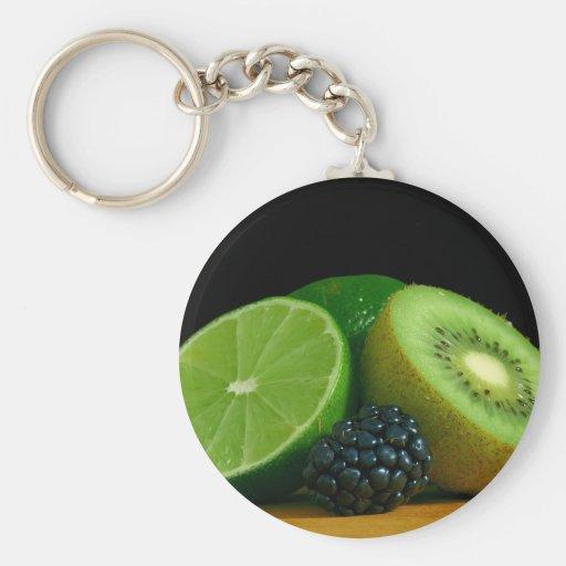Kiwi und Limones Schlüsselbänder