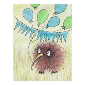 Kiwi-Vogel-alles Gute zum Geburtstag Postkarte