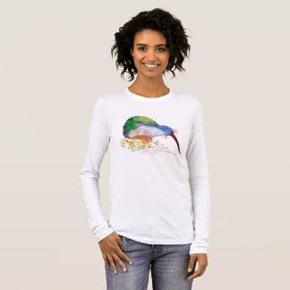 Kiwi-Vogel-Kunst Langarm T-Shirt