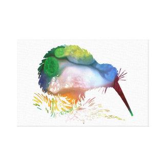 Kiwi-Vogel-Kunst Leinwanddruck