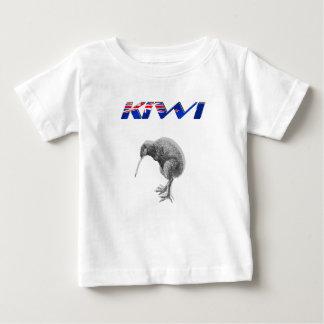 Kiwi-Vogel-Neuseeland-Flaggenlogogeschenke Baby T-shirt