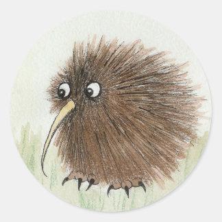 Kiwi-Vogel Runder Aufkleber