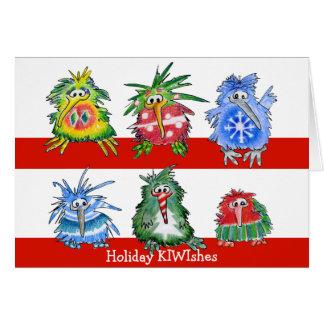 Kiwi-Vogel-Weihnachtsfeiertags-Karte Grußkarte
