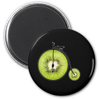 Kiwifahrrad Runder Magnet 5,7 Cm