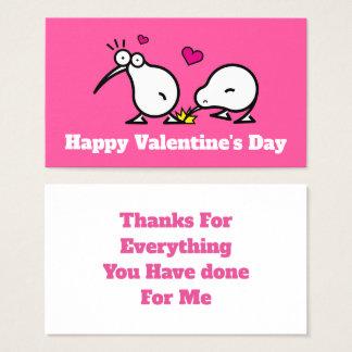 kiwiis glücklicher Valentinstag-Dank Visitenkarte