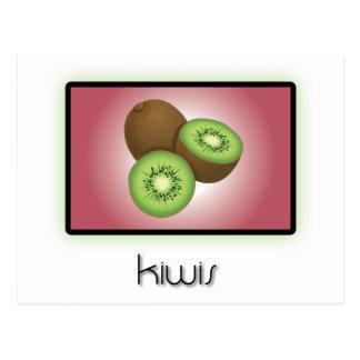 Kiwis Postkarte