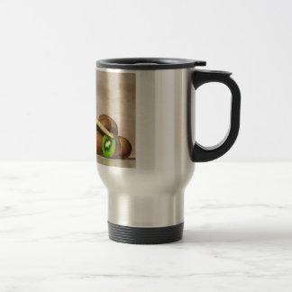 Kiwivogel und Kiwifruit Reisebecher