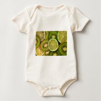 Kiwizitrone und Limones Baby Strampler
