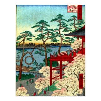 Kiyomizu Hall und Shinobazu stauen bei Ueno Postkarte