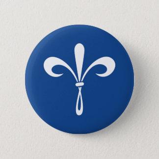 KKG Lilie: Tiefes Blau Runder Button 5,1 Cm