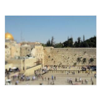 Klagemauer - alte Stadt Postkarte Jerusalems,