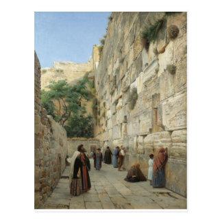 Klagemauer durch Gustav Bauernfeind Postkarte