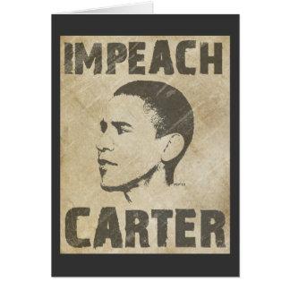 Klagen Sie Carter an Karte