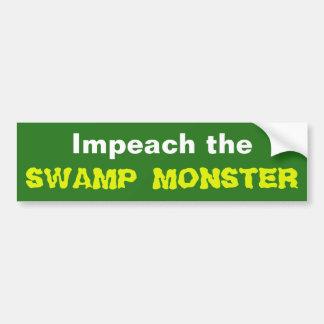 Klagen Sie das Sumpf-Monster an Autoaufkleber