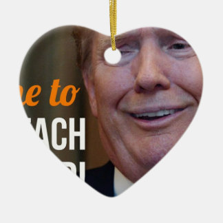 Klagen Sie Dotard Donald Trump an Keramik Ornament