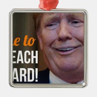 Klagen Sie Dotard Donald Trump an Silbernes Ornament