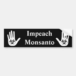 Klagen Sie Monsanto an Auto Aufkleber