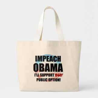 Klagen Sie Obama an Jumbo Stoffbeutel