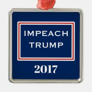 Klagen Sie Trumpf-rote weiße blaue Schablone an Silbernes Ornament