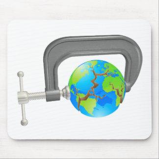 Klammer, die Weltkugel bricht