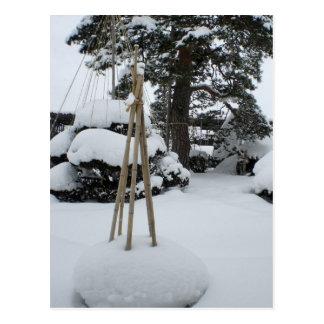 Klammer sich für mehr Schnee Postkarten