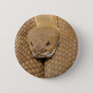 Klapperschlangen-Kopf Runder Button 5,7 Cm