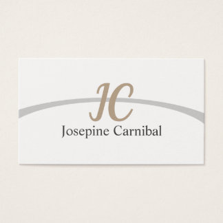 Klar frisches elegantes einfaches Weiß Visitenkarte