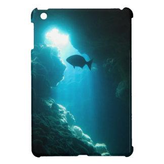 Klare blaue Höhle und Fische iPad Mini Hülle