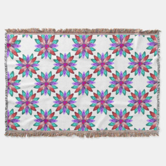 Klare bunte Feder-Wurfs-Decke Decke
