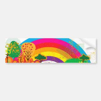 Klare bunte Regenbogenlandschaft Autoaufkleber