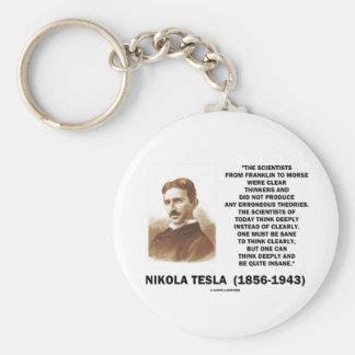 Klare Denker Nikola Teslas gesund offenbar denken Schlüsselanhänger