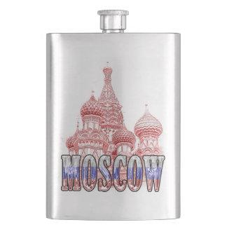 Klare klassische Flasche Moskaus Russland Flachmann