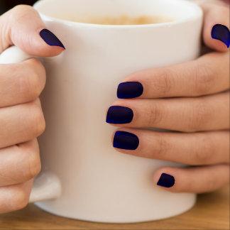 Klare Kobalt-Blau-glänzende Nagel-Kunst Minx Nagelkunst