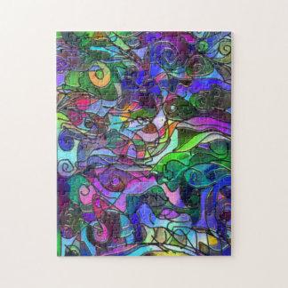 Klare, reiche Farben: Wie Buntglas Puzzle