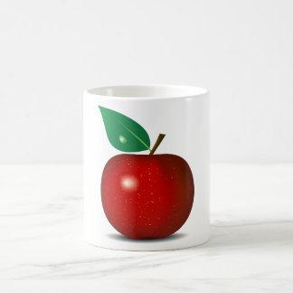 Klare rote Apple-Tasse Tasse