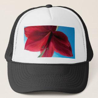klare rote Blume der Amaryllis-108a Truckerkappe