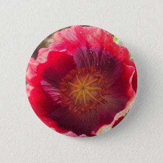 Klare rote Mohnblume Runder Button 5,7 Cm