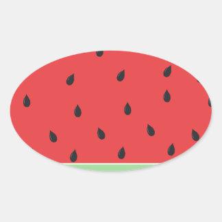 Klare Wassermelone Ovaler Aufkleber