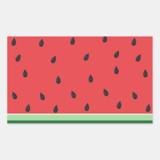 Klare Wassermelone Rechteckiger Aufkleber